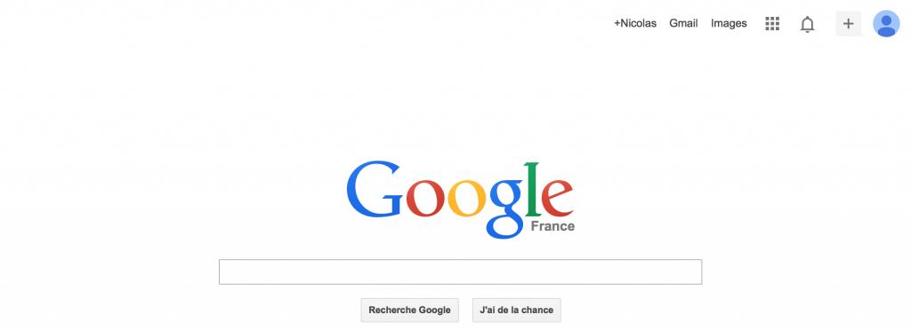 Page Google en 2014