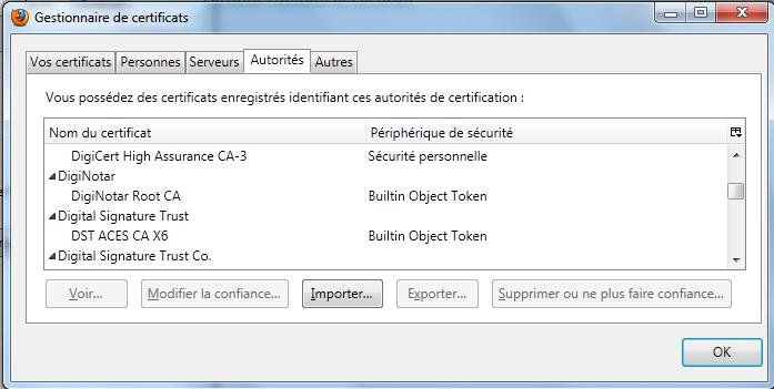 Diginotar - Firefox 4