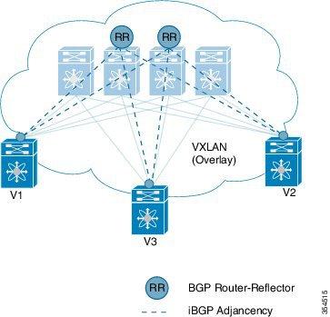 Topologie VXLAN BGP VPN avec Route Reflectors